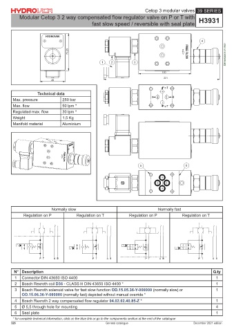 plates for bosch rexroth ed bankable valves 41 series inlet plate / relief  valve / bypass valve h4122 3 way compensated proportional flow regulator /  60 lpm
